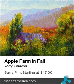Apple Farm In Fall by Terry  Chacon - Painting - Oil On Canvas