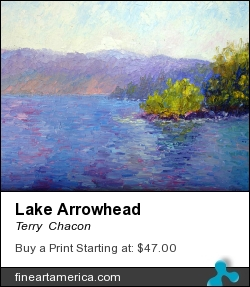 Lake Arrowhead by Terry  Chacon - Painting - Oil On Canvas