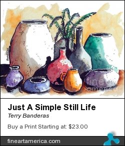 Just A Simple Still Life by Terry Banderas - Painting - Watercolor On Paper.