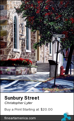 Sunbury Street by Christopher Lyter - Painting - Oil On Canvas