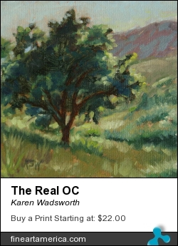 The Real Oc by Karen Wadsworth - Painting - Oil On Canvas-covered Panel