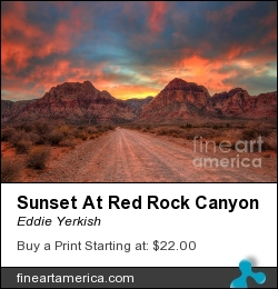 Sunset At Red Rock Canyon by Eddie Yerkish - Photograph - Photograph