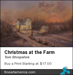 Christmas At The Farm by Tom Shropshire - Painting - Acrylic On Stretched Canvas