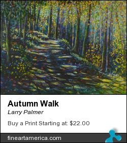 Autumn Walk by Larry Palmer - Painting - Acrylic