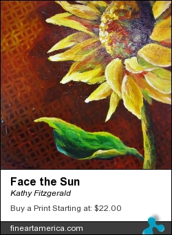 Face The Sun by Kathy Fitzgerald - Painting - Acrylic On Cradled Wood Panel