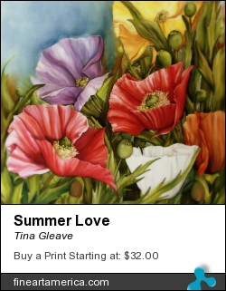 Summer Love by Tina Gleave - Painting - Painting With Dye On Silk