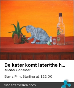 De Kater Komt Later/the Hangover Comes Later by Michel Sehstedt - Painting - Oil On Canvas