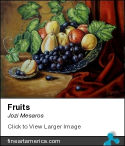 Fruits by Jozi Mesaros - Painting