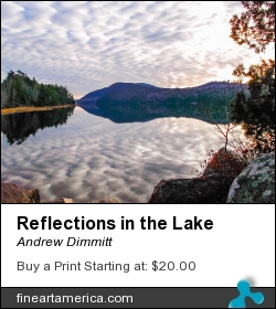 Reflections In The Lake by Andrew Dimmitt - Photograph