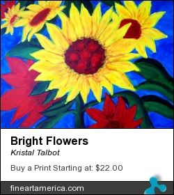 Bright Flowers by Kristal Talbot - Painting - Acrylic