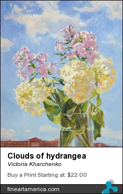 Clouds Of Hydrangea by Victoria Kharchenko - Painting - Oil On Canvas