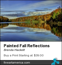Painted Fall Reflections by Brenda Hackett - Photograph - Photography