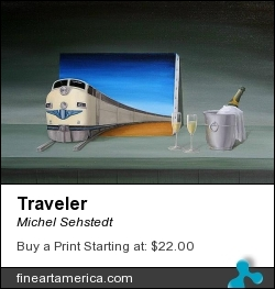 Traveler by Michel Sehstedt - Painting - Oil On Canvas