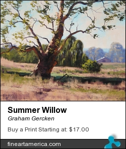 Summer Willow by Graham Gercken - Painting - Oil On Canvas