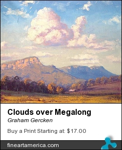 Clouds Over Megalong by Graham Gercken - Painting - Oil On Canvas