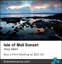 Isle Of Mull Sunset by Tony Skerl - Photograph - Photography