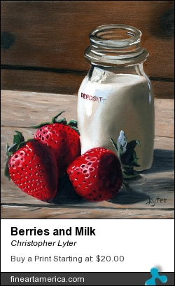 Berries And Milk by Christopher Lyter - Painting - Oil On Canvas