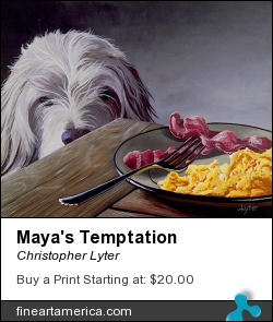 Maya's Temptation by Christopher Lyter - Painting - Acrylic On Canvas