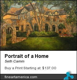 Portrait Of A Home by Seth Camm - Painting - Oil On Canvas