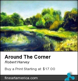 Around The Corner by Robert Harvey - Painting - Acrylic On Plywood