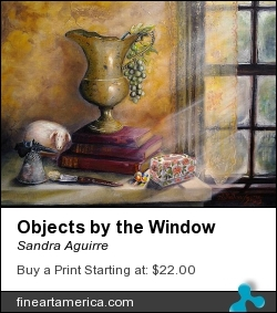 Objects By The Window by Sandra Aguirre - Painting - Oil On Flat Canvas