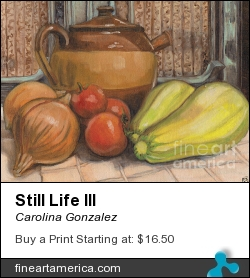 Still Life IIi by Carolina Gonzalez - Painting - Oil On Canvas
