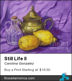 Still Life II by Carolina Gonzalez - Painting - Oil On Canvas