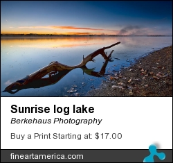 Sunrise Log Lake by Berkehaus Photography - Photograph - Photograph