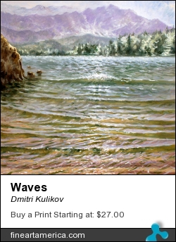 Waves by Dmitri Kulikov - Painting - Oil On Canvas