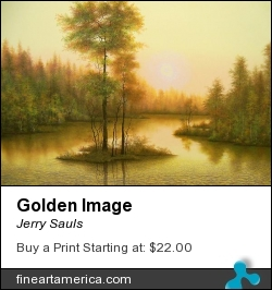 Golden Image by Jerry Sauls - Painting - Oil On Canvas
