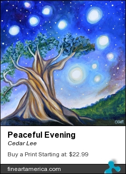 Peaceful Evening by Cedar Lee - Painting - Oil On Canvas