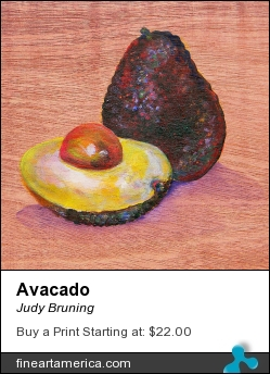 Avacado by Judy Bruning - Painting - Acrylic On Wood