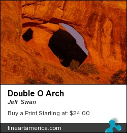 Double O Arch by Jeff  Swan - Photograph - Photograph