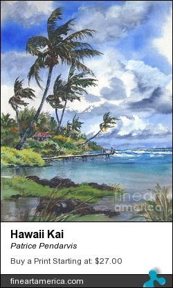 Hawaii Kai by Patrice Pendarvis - Painting - Watercolor