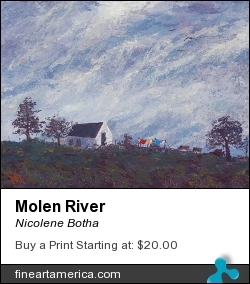 Molen River by Nicolene Botha - Painting