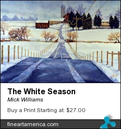 The White Season by Mick Williams - Painting - Watercolor