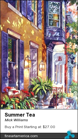Summer Tea by Mick Williams - Painting - Watercolor