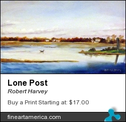 Lone Post by Robert Harvey - Painting - Oil On Wood