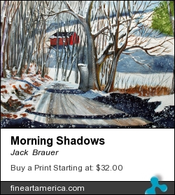 Morning Shadows by Jack  Brauer - Painting - Watercolor