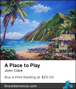 A Place To Play by John Clark - Painting - Acrylic On Canvas