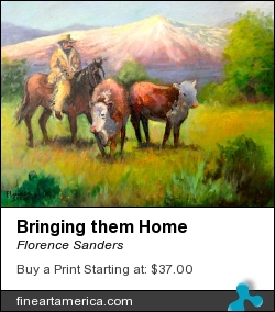 Bringing Them Home by Florence Sanders - Painting - Oil On Canvas