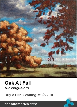 Oak At Fall by Ric Nagualero - Painting - Acrylic On Canvas