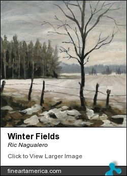 Winter Fields by Ric Nagualero - Painting - Acrylic On Canvas