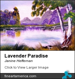 Lavender Paradise by Janine Heffernan - Painting - Acrylic On Canvas
