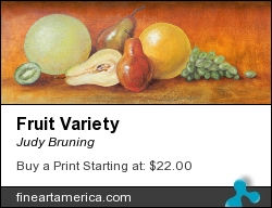 Fruit Variety by Judy Bruning - Painting - Acrylic On Wood