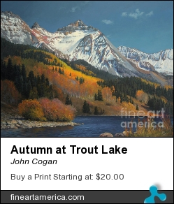 Autumn At Trout Lake by JOHN COGAN - Painting - Acrylic On Canvas