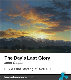 The Day's Last Glory by John Cogan - Painting - Acrylic On Canvas