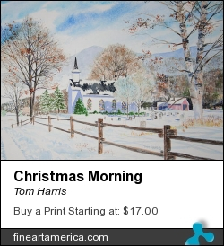 Christmas Morning by Tom Harris - Painting - Watercolor