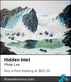 Hidden Inlet by Philip Lee - Painting - Oil Painting