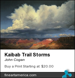 Kaibab Trail Storms by John Cogan - Painting - Acrylic On Canvas